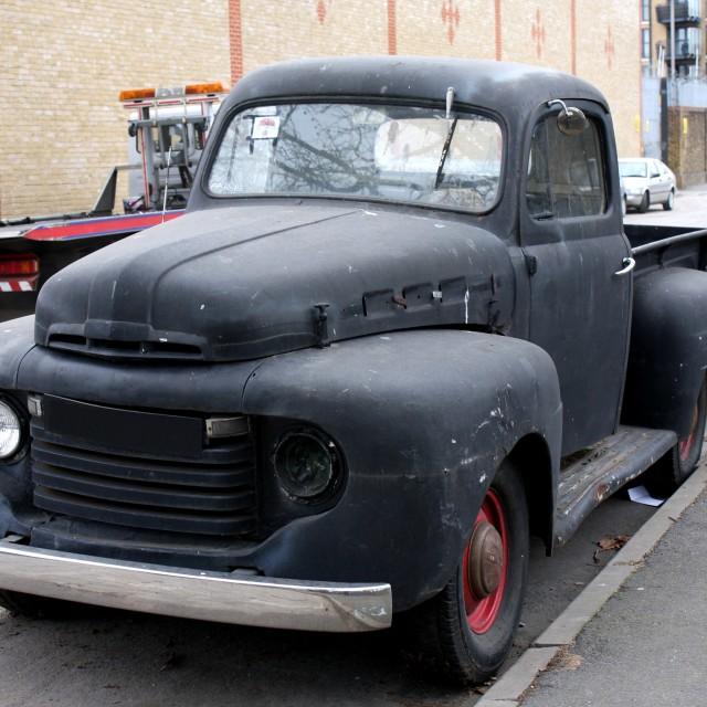 """American Truck in London"" stock image"