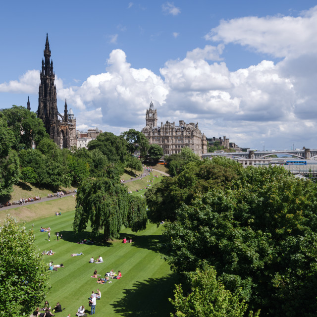 """Princes Street Gardens, Edinburgh"" stock image"