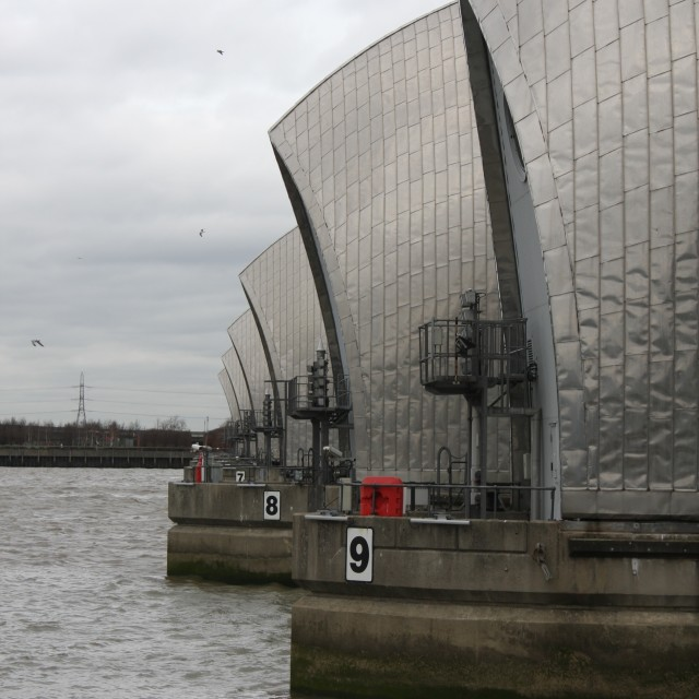 """""""The Thames Barrier"""" stock image"""