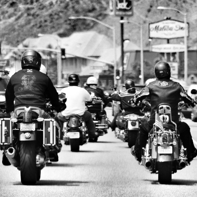 """Malibu bikers"" stock image"