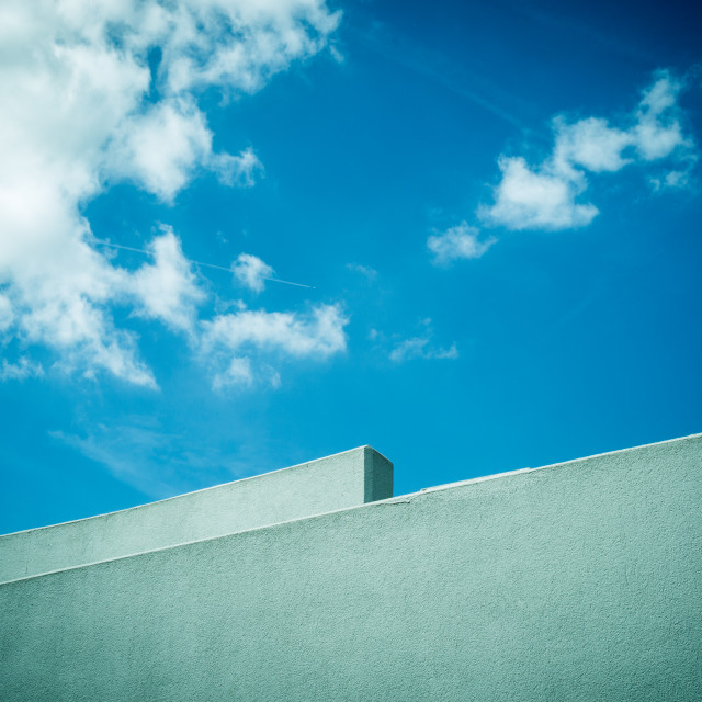 """Wall and sky"" stock image"