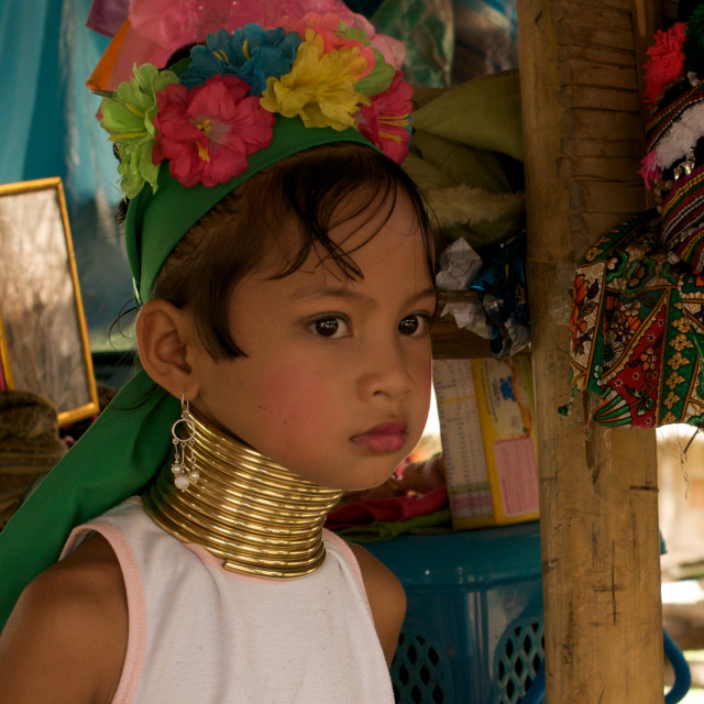 """Kayan girl, northern Thailand"" stock image"