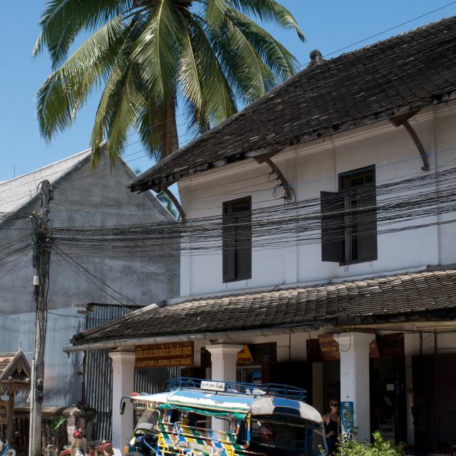 """""""Tuk-tuk in Luang Prabang, Laos"""" stock image"""