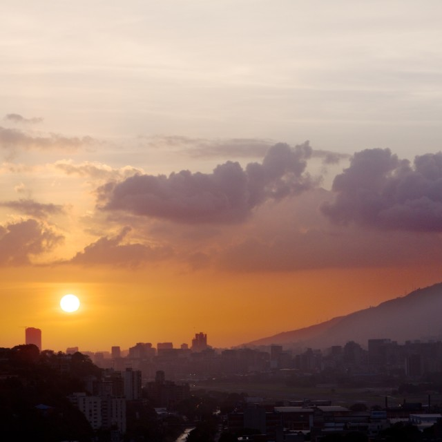 """Caracas sunset"" stock image"