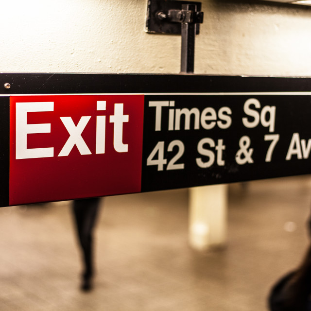 """""""Times Square Signage"""" stock image"""