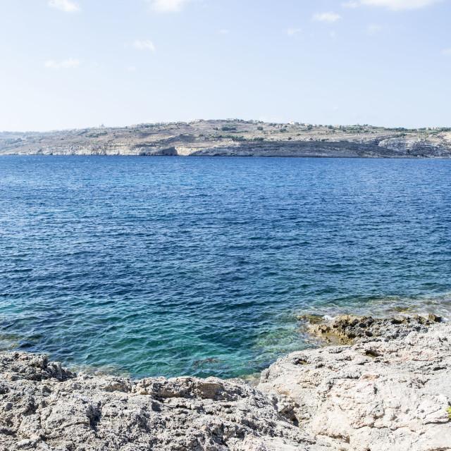 """blue lagoon cormino malta"" stock image"