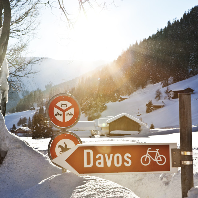 """Davos, Switzerland"" stock image"