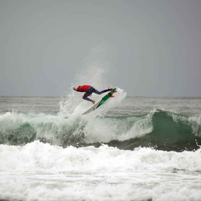 """Boardmasters Surfing 2013"" stock image"