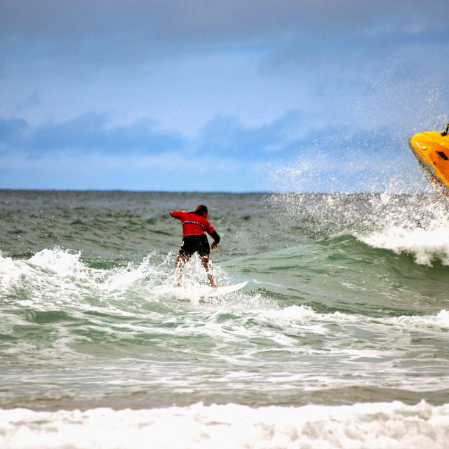 """Boardmasters Surfing 2013"" stock image"