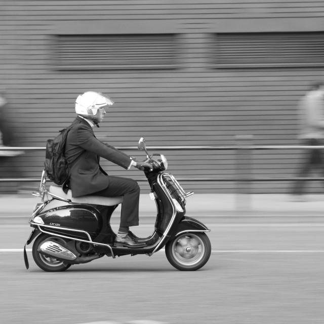 """""""panning motorbike"""" stock image"""
