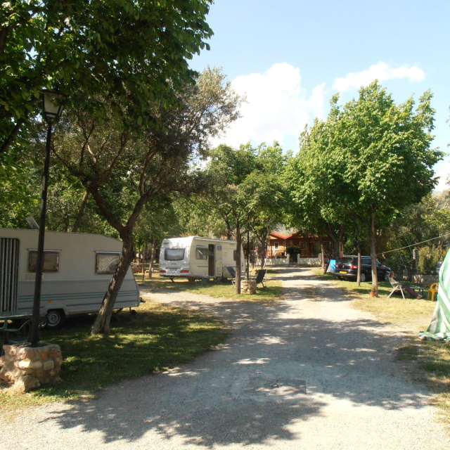 """Campsite Spain"" stock image"
