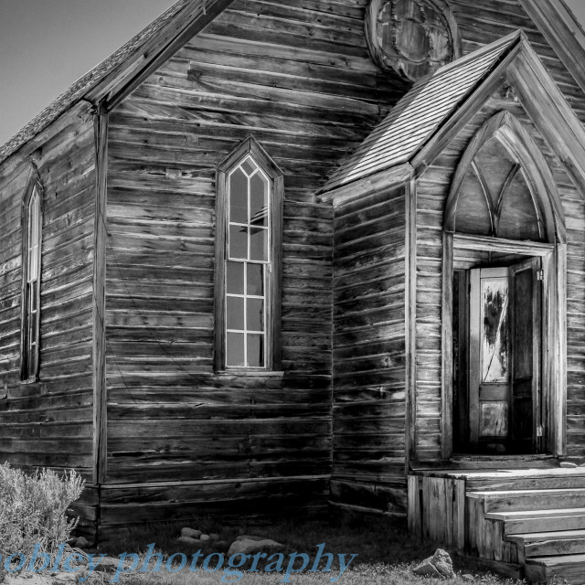 """Bodie Church"" stock image"