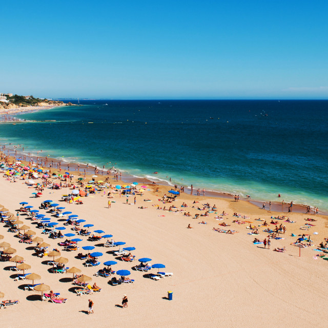 """Albufeira beach"" stock image"