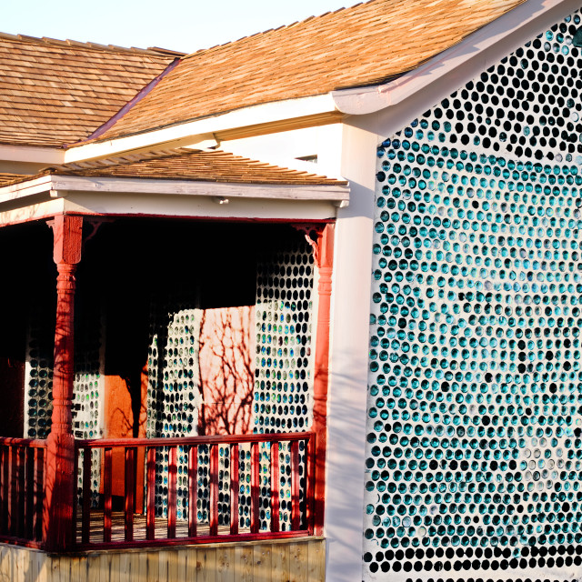 """Bottle House in Rhyolite, Nevada"" stock image"