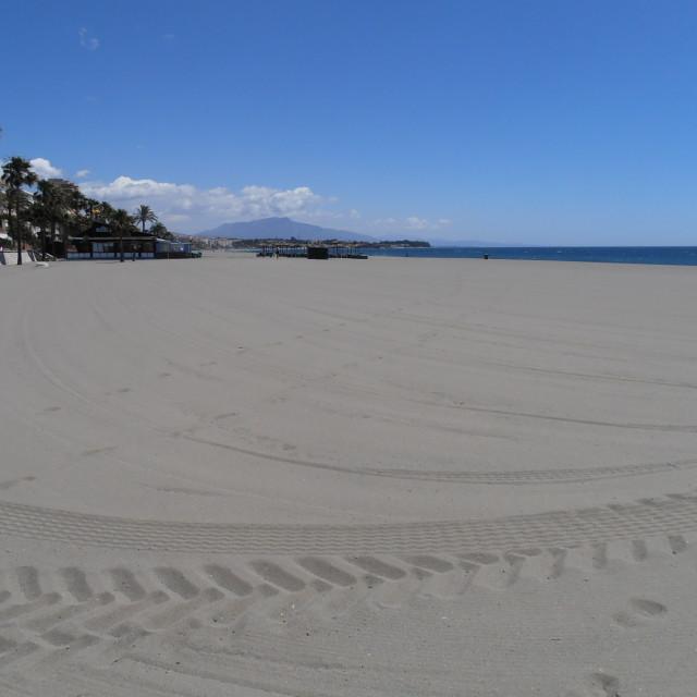 """""""Estepona Empty Beach"""" stock image"""