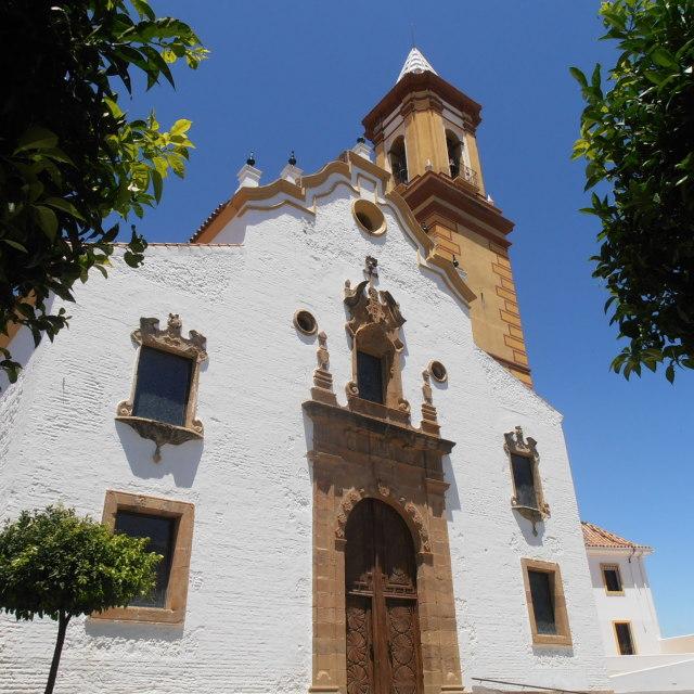 """""""White Spanish Church"""" stock image"""