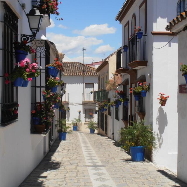 """Typical Spanish Street"" stock image"