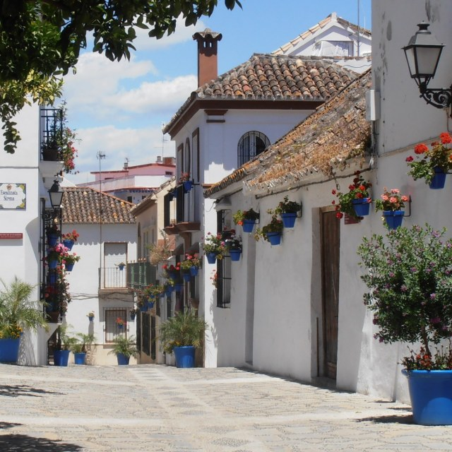 """Pretty Spanish Street"" stock image"