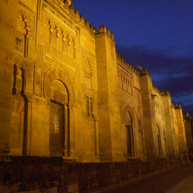 """Walls of Mezquita at Night"" stock image"