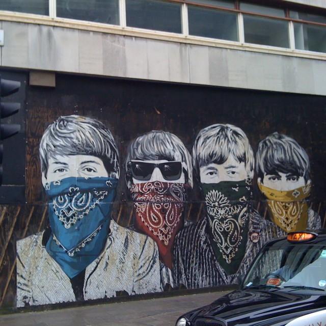"""Shut up. The Beatles"" stock image"