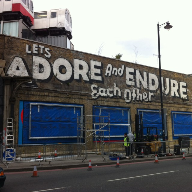 """London street art"" stock image"