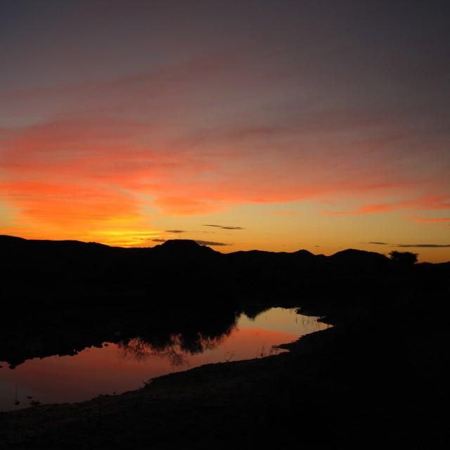 """""""Sahara sunset"""" stock image"""