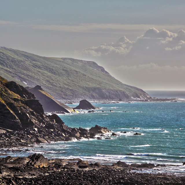 """Widemouth Bay, Cornwall"" stock image"