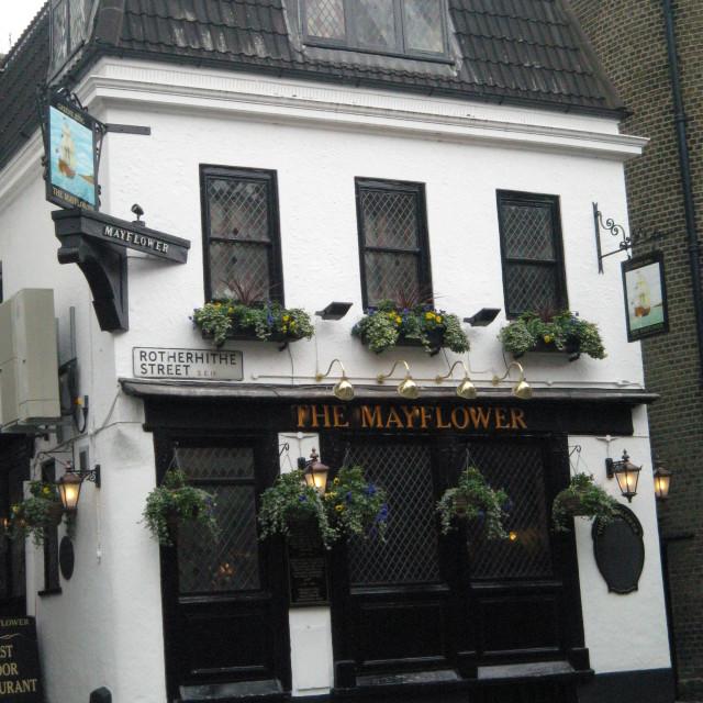 """""""The Mayflower Pub, Rotherhithe, England"""" stock image"""