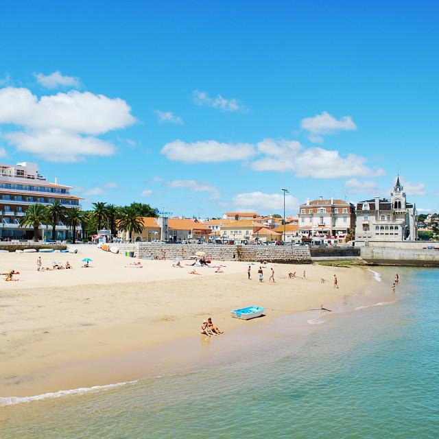 """Cascais beach"" stock image"