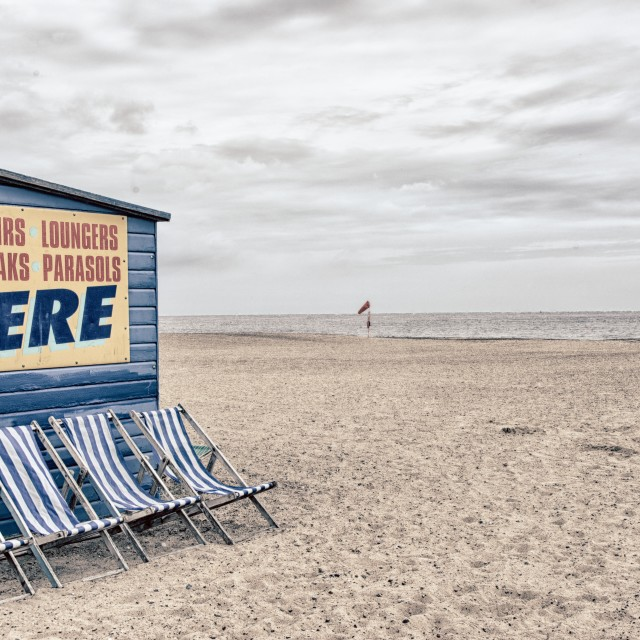"""Great Yarmouth beach, Norfolk"" stock image"