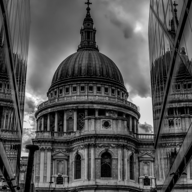 """St Paul's Reflection"" stock image"