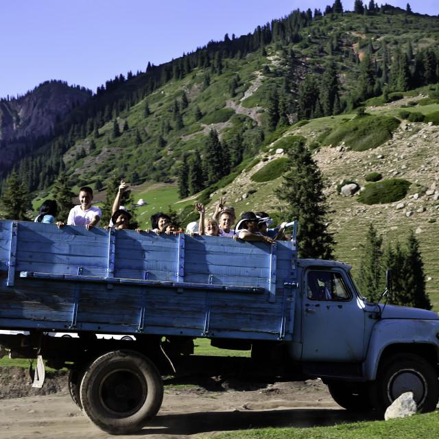 """Kyrgyzstan Tourism"" stock image"