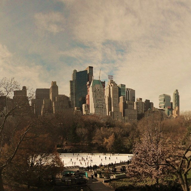 """""""Central Park Panoramic"""" stock image"""