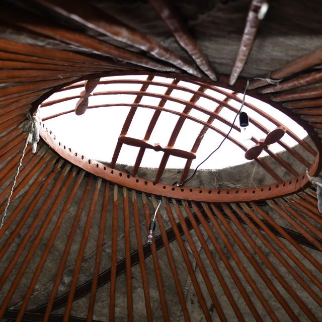 """Kyrgyzstan Yurt Roof"" stock image"