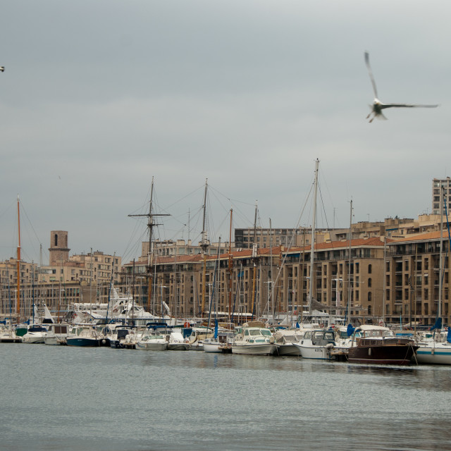 """Grey Day in Marseille"" stock image"