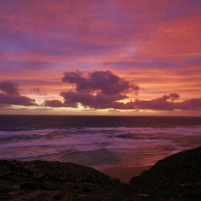 """Ocean Sunset #5"" stock image"