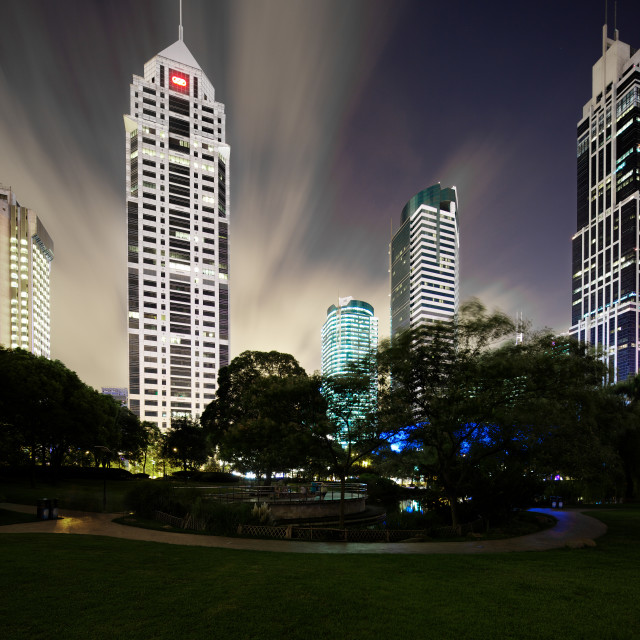 """shanghai skyscrapers"" stock image"