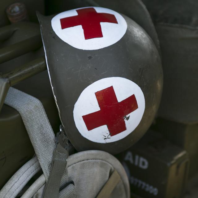 """Army Medics Helmet"" stock image"