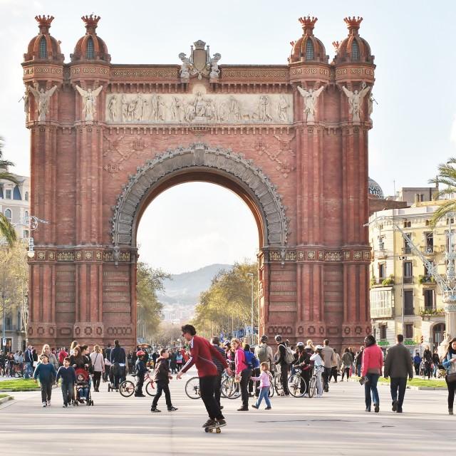 """Arc de Triomf Barcelona"" stock image"