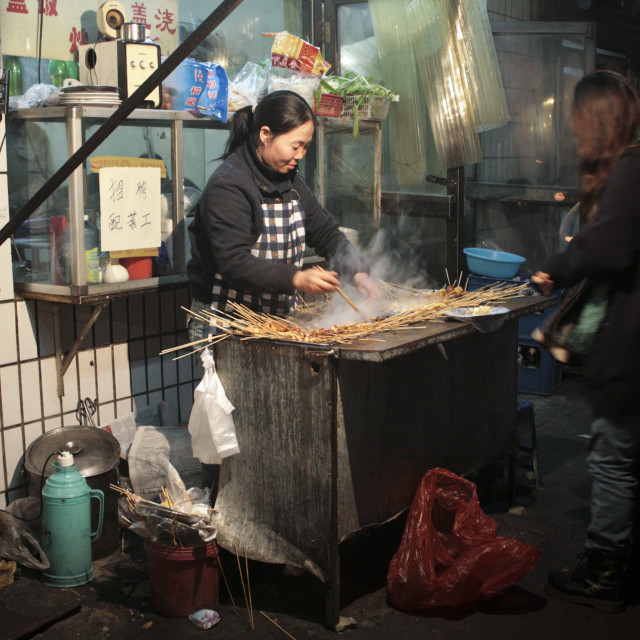 """""""Street food in China"""" stock image"""