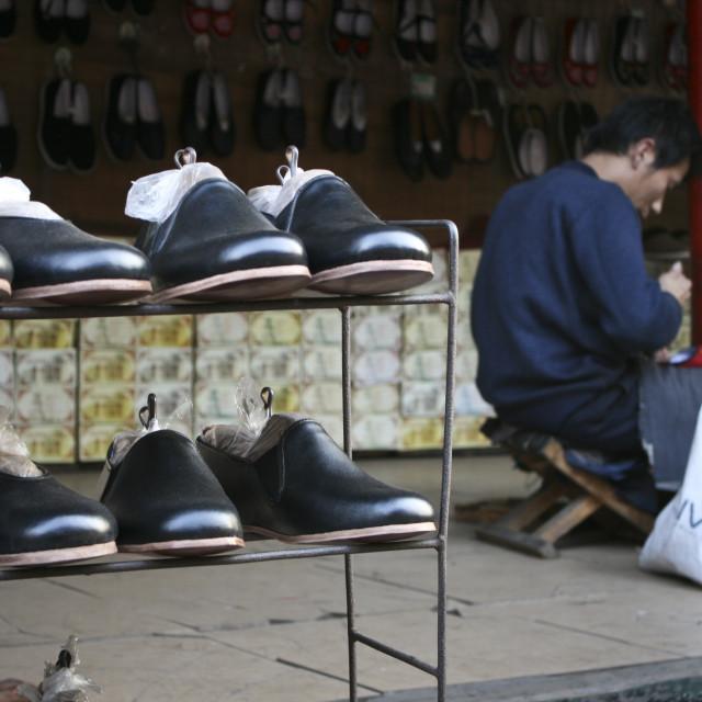 """""""Shoemaker, China"""" stock image"""