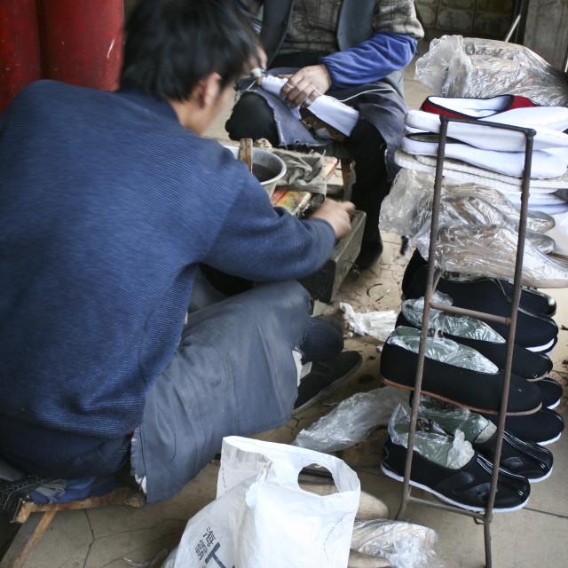 """""""Shoemakers, China"""" stock image"""