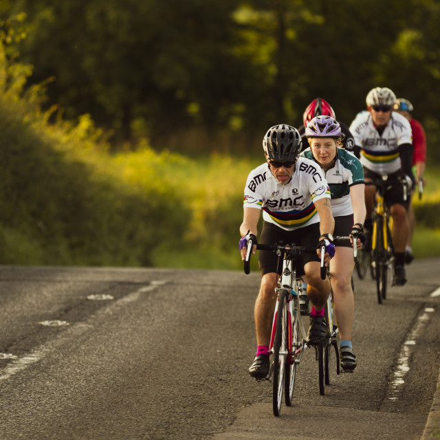 """""""Keen cyclists"""" stock image"""