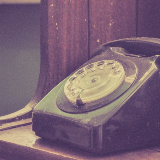 """""""Vintage classic dial phone"""" stock image"""