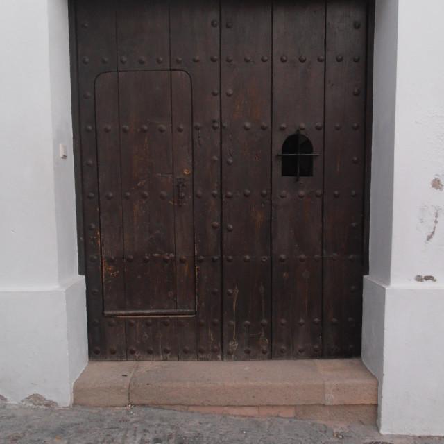 """""""Spanish Wooden Door"""" stock image"""