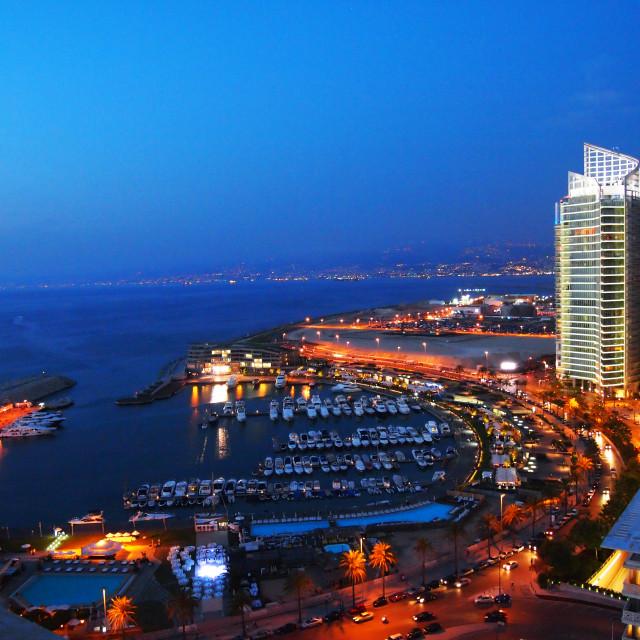 """Beirut at night"" stock image"