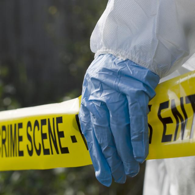 """""""Crime Scene Investigation"""" stock image"""
