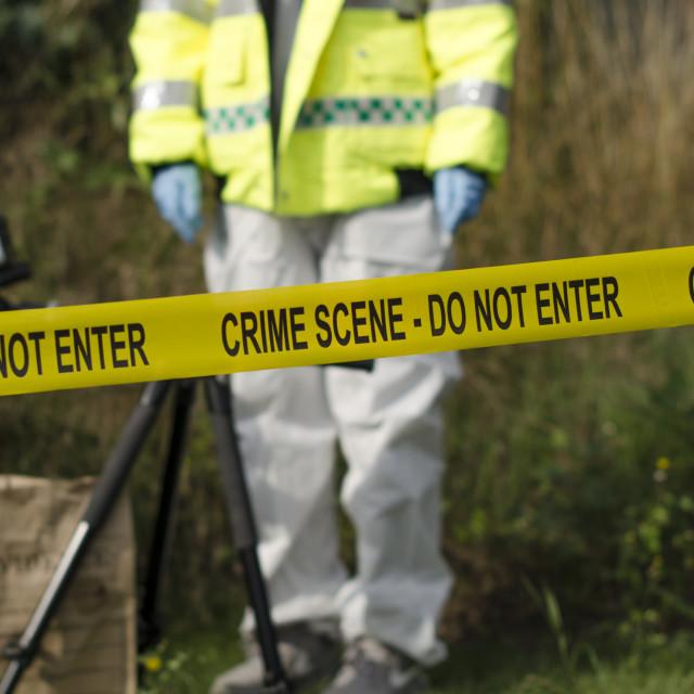 """Crime Scene Detective"" stock image"