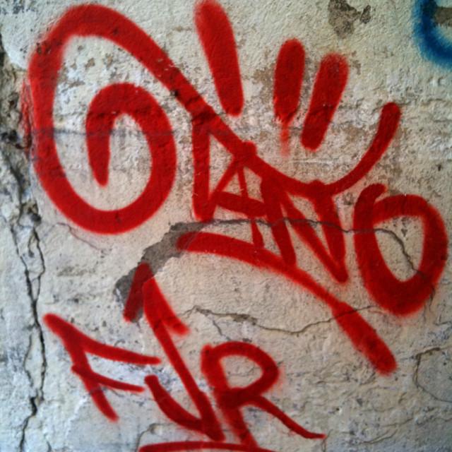 """Graffiti in Pisa, Italy"" stock image"