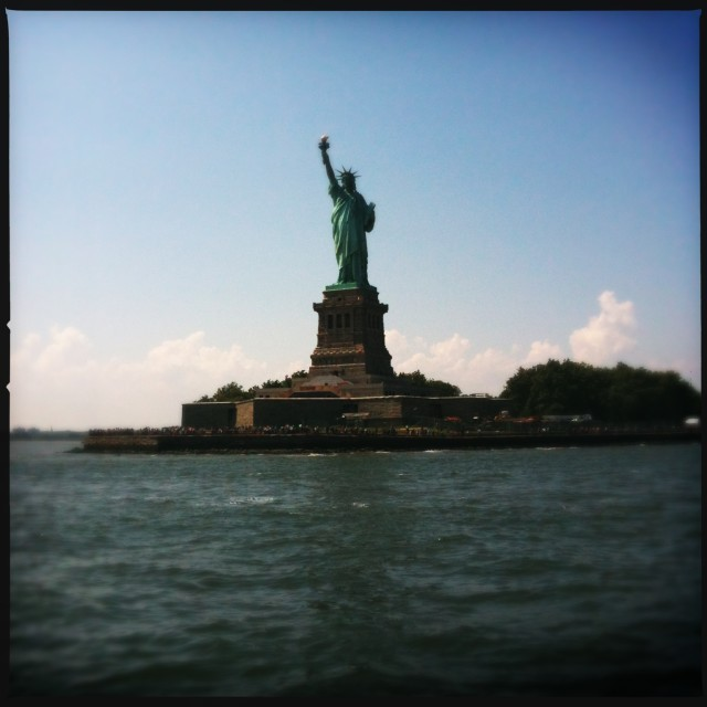 """The Statue of Liberty, 2012"" stock image"